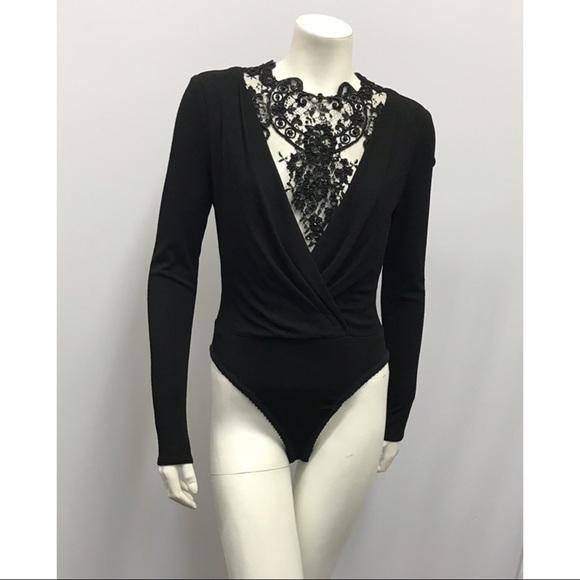 Badgley Mischka Tops - ❤️SOLD❤️ Badgley Mischka Brocade Lace Bodysuit 4